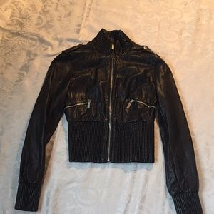 Bebe sport leather bomber